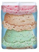 Five Scoop Ice Cream Cone Duvet Cover