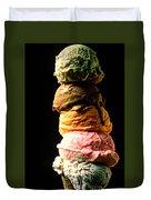 Five Scoops Of Ice Cream Duvet Cover