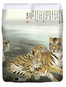 Five Tigers Duvet Cover