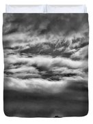 Five Trees In Clouds Duvet Cover