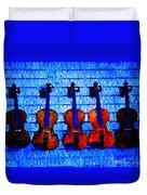 Five Violins Duvet Cover
