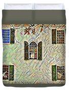 Five Windows Watercolor Duvet Cover