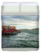 Fjallbacka Huts Duvet Cover