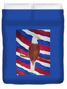 Flag And Eagle Duvet Cover