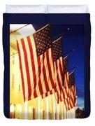 Flag Congress Hall Cape May Nj Duvet Cover