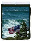 Flag Flying Duvet Cover
