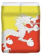 Flag Of Bhutan Wall Duvet Cover