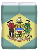 Flag Of Delaware Duvet Cover