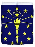 Flag Of Indiana Duvet Cover