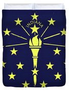 Flag Of Indiana Wall Duvet Cover