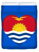 Flag Of Kiribati Heart Duvet Cover