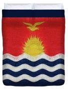 Flag Of Kiribati Texture Duvet Cover