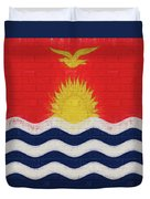 Flag Of Kiribati Wall Duvet Cover