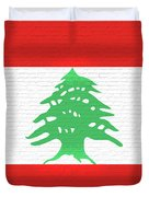Flag Of Lebanon Wall Duvet Cover