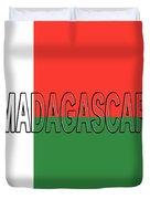 Flag Of Madagascar Word Duvet Cover