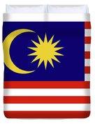 Flag Of Malaysia. Duvet Cover