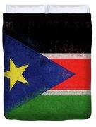 Flag Of  South Sudan Grunge Duvet Cover