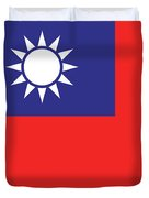 Flag Of Taiwan Duvet Cover