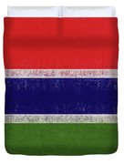 Flag Of The Gambia Grunge. Duvet Cover