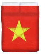 Flag Of Vietnam Grunge Duvet Cover