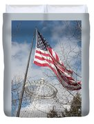 Flag Over Spokane Pavilion Duvet Cover