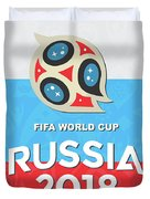 Flag Russia World Cup Duvet Cover