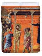 Flagellation Of Christ 1311 Duvet Cover