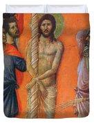 Flagellation Of Christ Fragment 1311 Duvet Cover