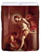 Flagellation Of Christ Duvet Cover by Pietro Bardellini