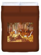 Flagging Deer Duvet Cover
