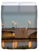 Flagler Bridge In Lights IIi Duvet Cover