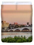Flagler Bridge In The Evening I Duvet Cover