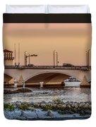Flagler Bridge In The Evening IIi Duvet Cover