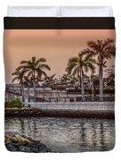Flagler Bridge In The Evening V Duvet Cover