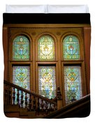 Flagler College Stained Glass Duvet Cover