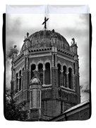 Flagler Memorial Presbyterian Church 3  B-w Duvet Cover