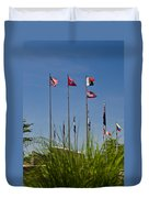 Flags Flags Flags Duvet Cover