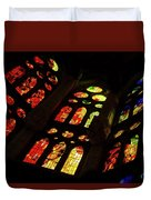 Flamboyant Stained Glass Window Duvet Cover