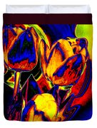 Flamboyant Tulips Duvet Cover