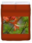 Flame Azalea Duvet Cover