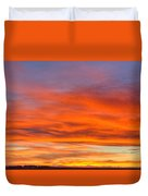 Flame On In Widescape Duvet Cover