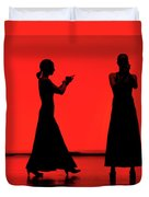 Flamenco Red An Black Spanish Passion For Dance And Rithm Duvet Cover