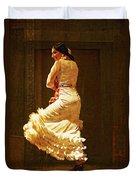 Flamenco Dancer #20 - The White Dress Duvet Cover