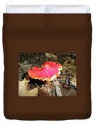Flamenco Mushroom In Red Duvet Cover