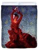 Flamenco Senorita Fuerza Duvet Cover