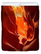 Flames In The Walls Of Antelope Duvet Cover