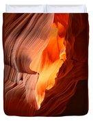 Flames Under The Arizona Desert Duvet Cover