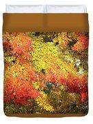 Flaming Autumn Leaves Art Duvet Cover