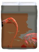 Flaming Flamingo-d  Duvet Cover