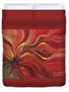 Flaming Flower Duvet Cover